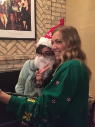 Diana in the beard, Paige in the green