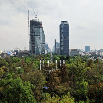 view from chapultepec castle to reforma mexico city
