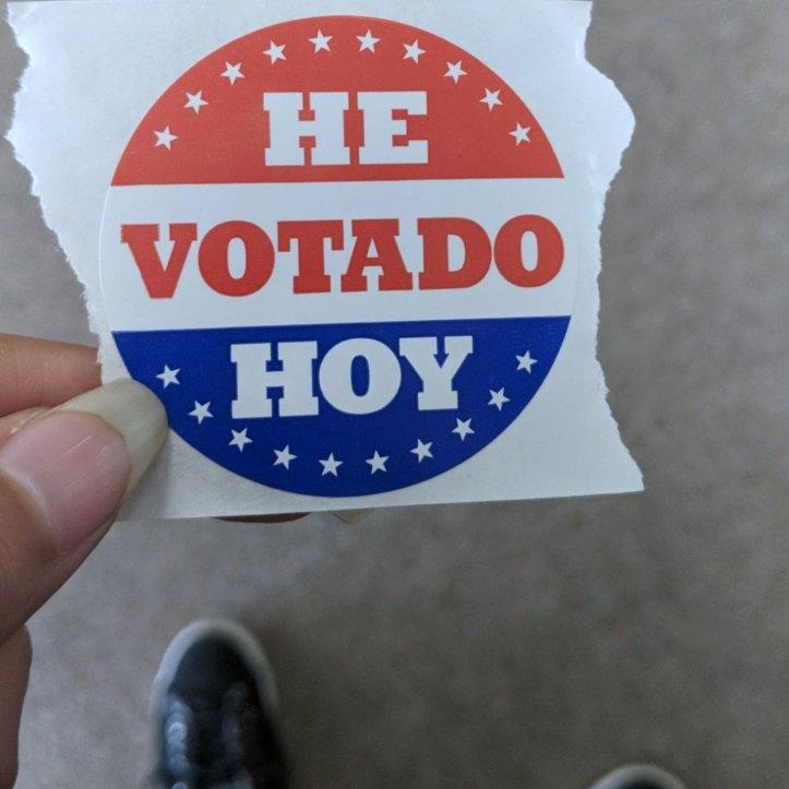 voting sticker 2018