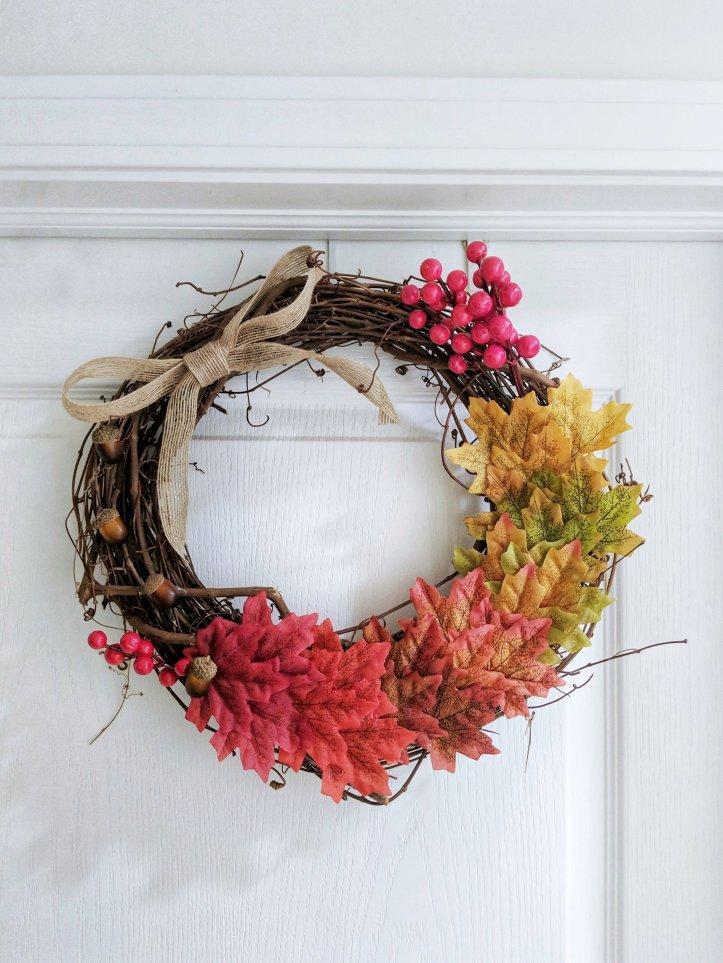 DIY autumnal wreath