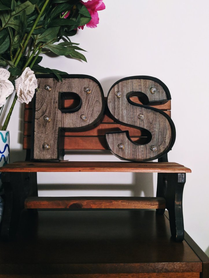 autumnal decor monogram bench