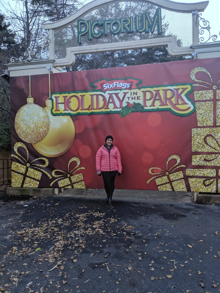 six flags holiday in the park backdrop
