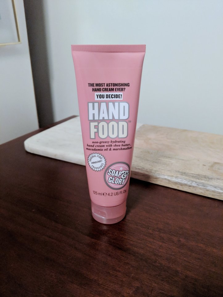 blogmas advent calendar soap and glory hand food lotion