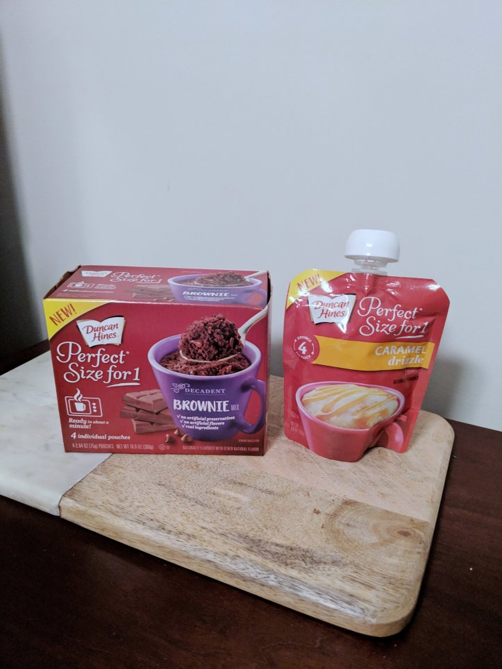 blogmas advent calendar brownie cup mix and topping