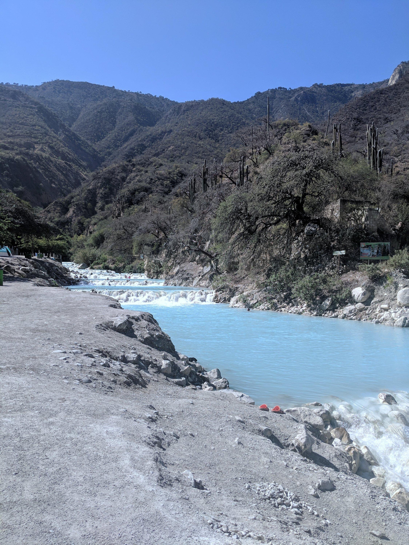 Pamela in Mexico Tolantongo river rio
