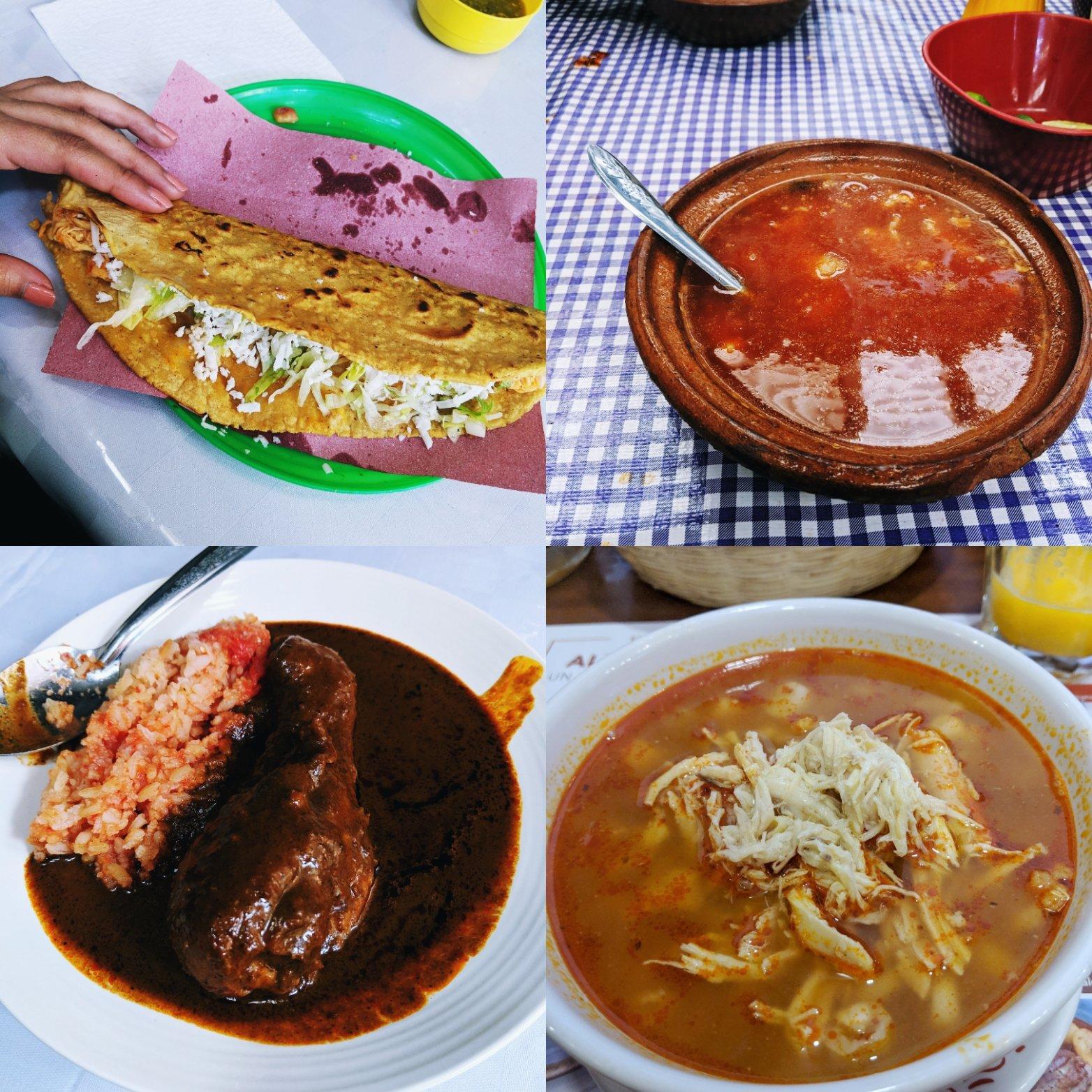 Pamela in Mexico Food
