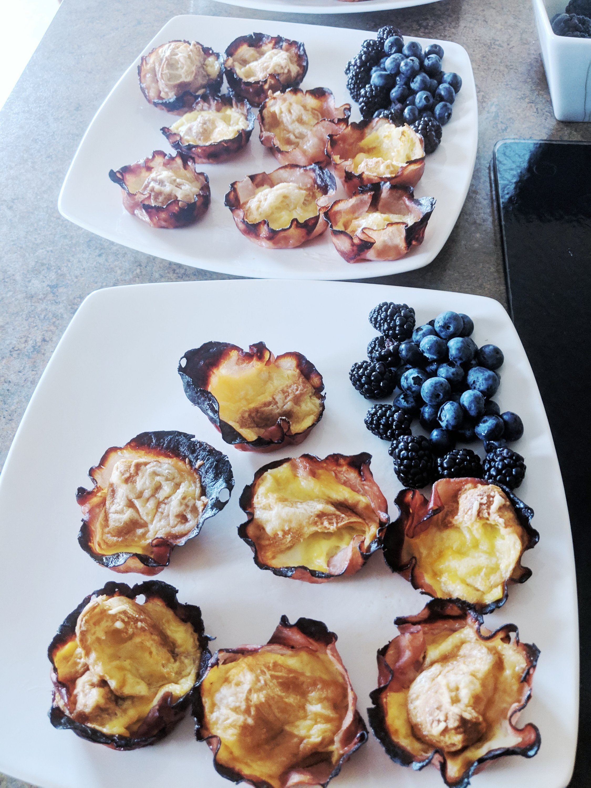 learning to cook ham cheese croissant cups