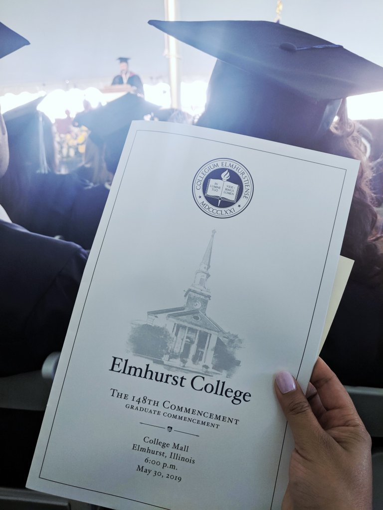 Elmhurst College MBA Graduate Commencement Program