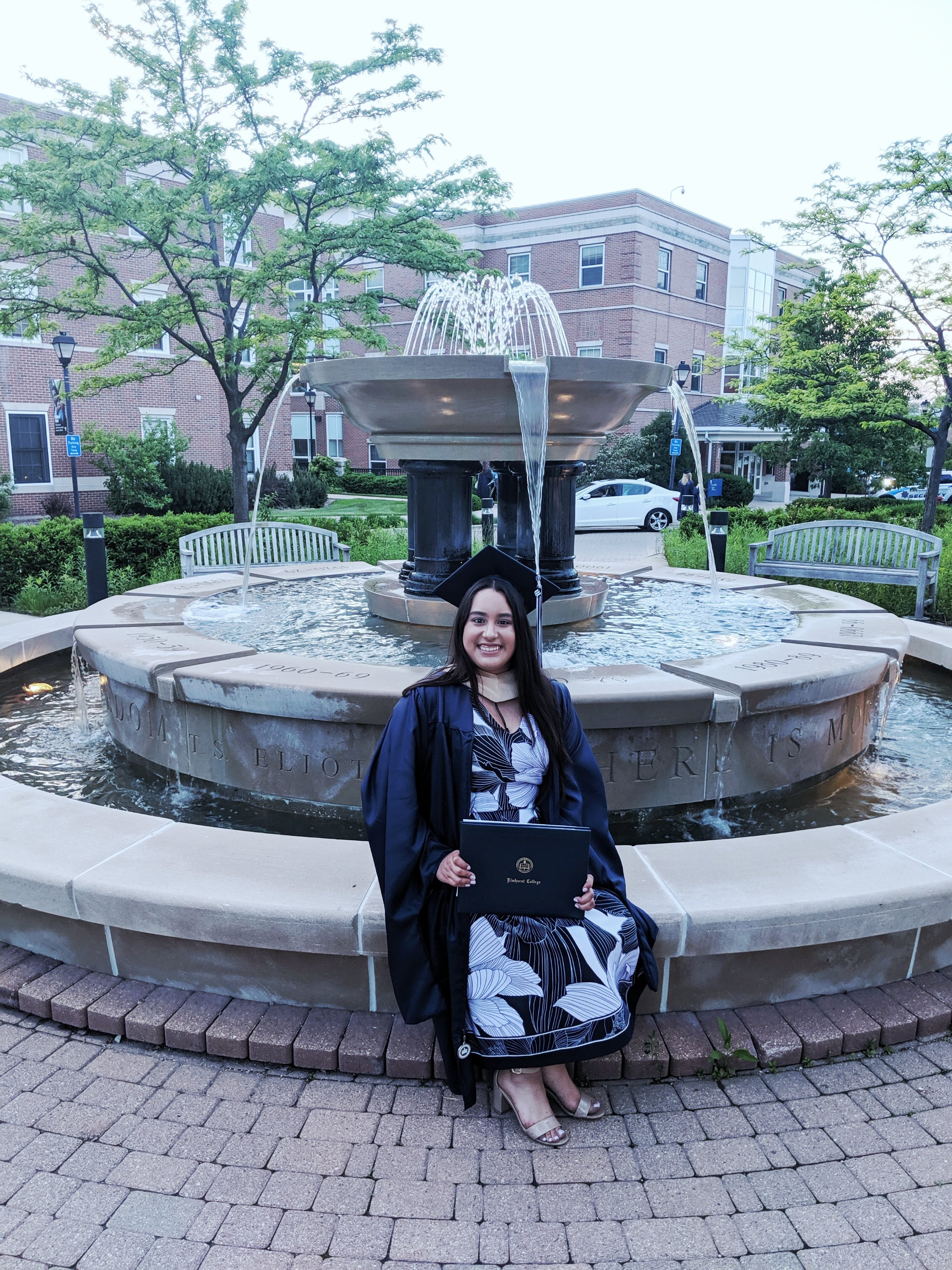 MBA Commencement Fountain