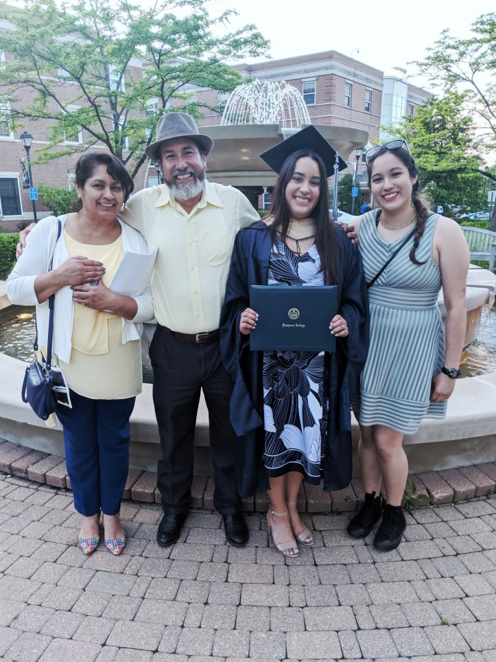 MBA Commencement Fountain with Family