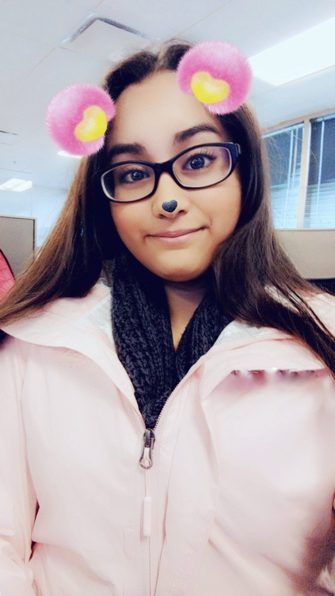 snapchat filter selfie north face jacket