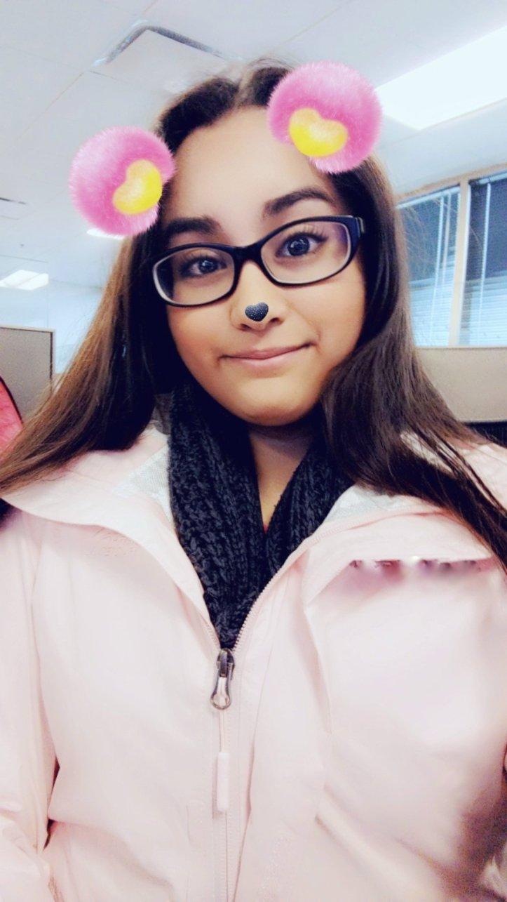 snapchat filter selfie north face jacket
