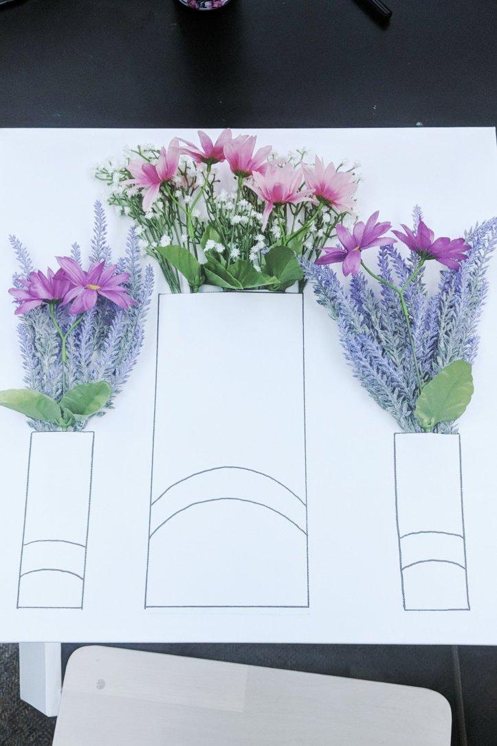 DIY night 3D flower art