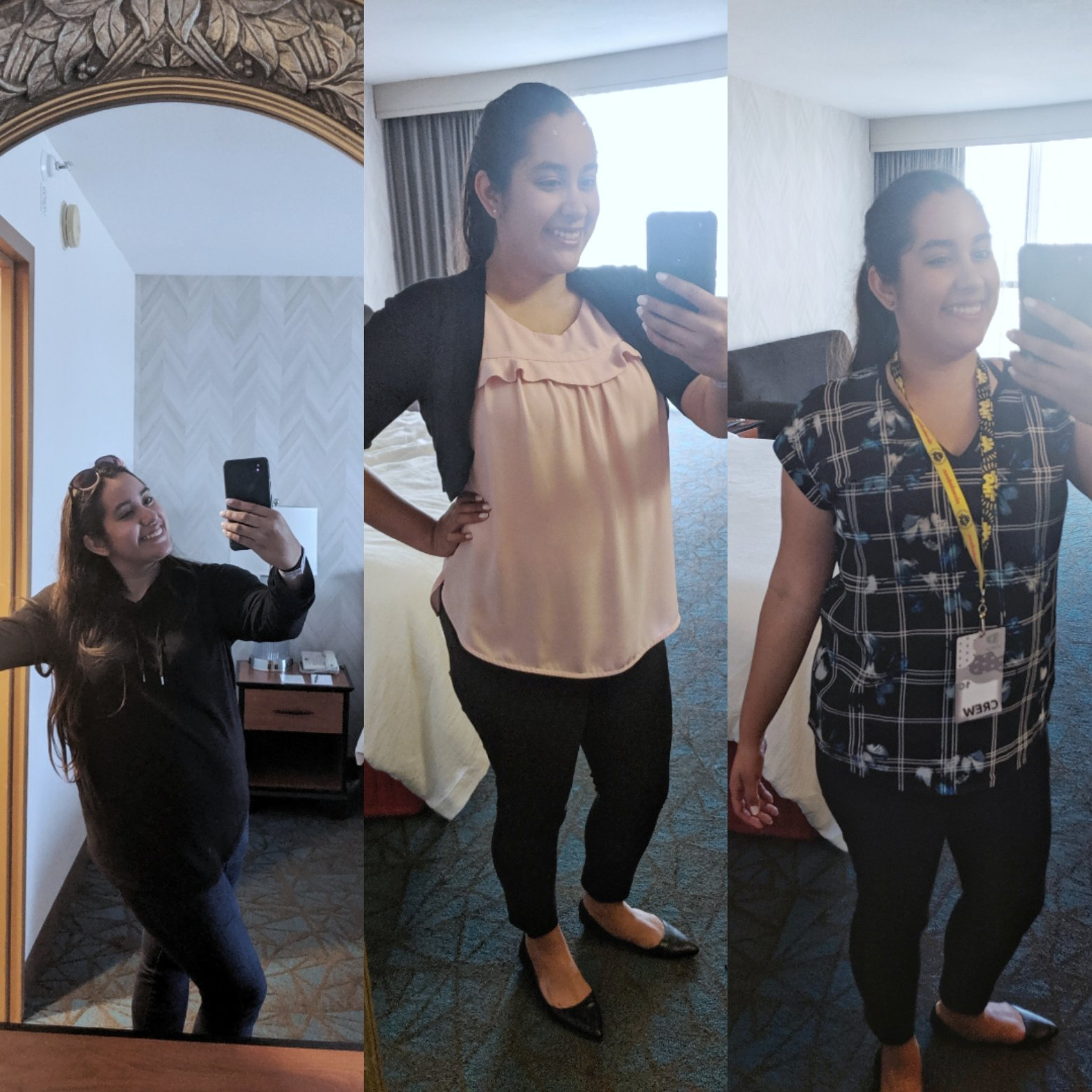 my anaheim work trip outfits