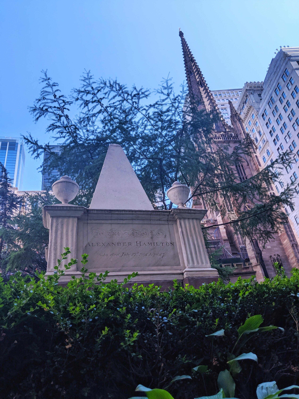 alexander hamilton trinity church NYC trip