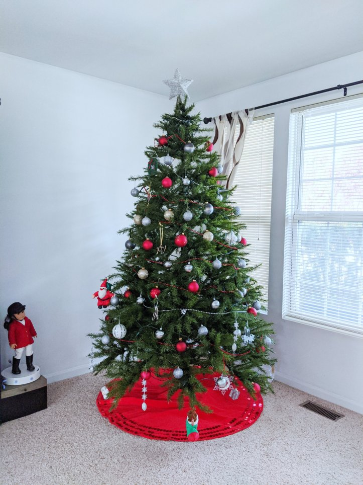 my 2019 christmas tree daytime light