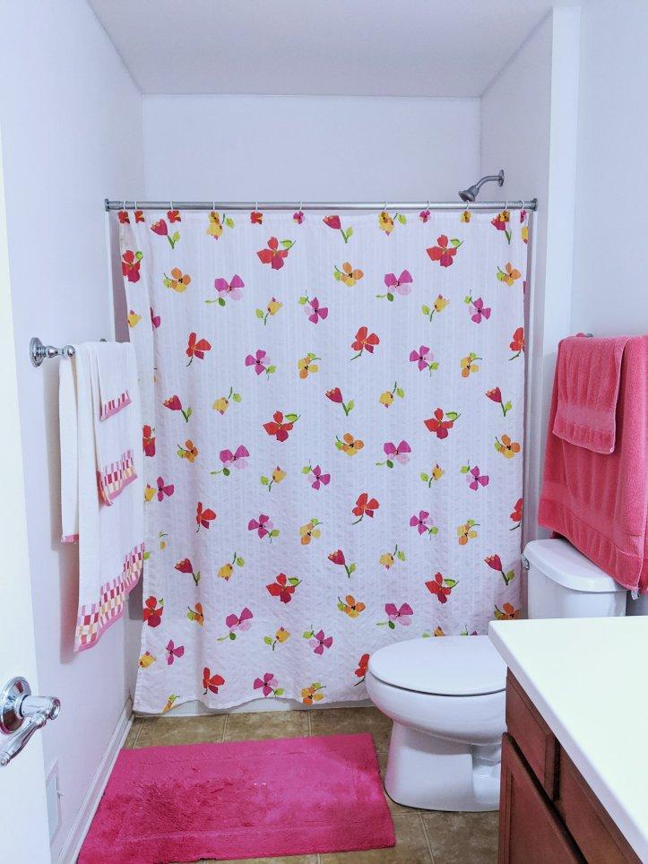 floral bathroom before
