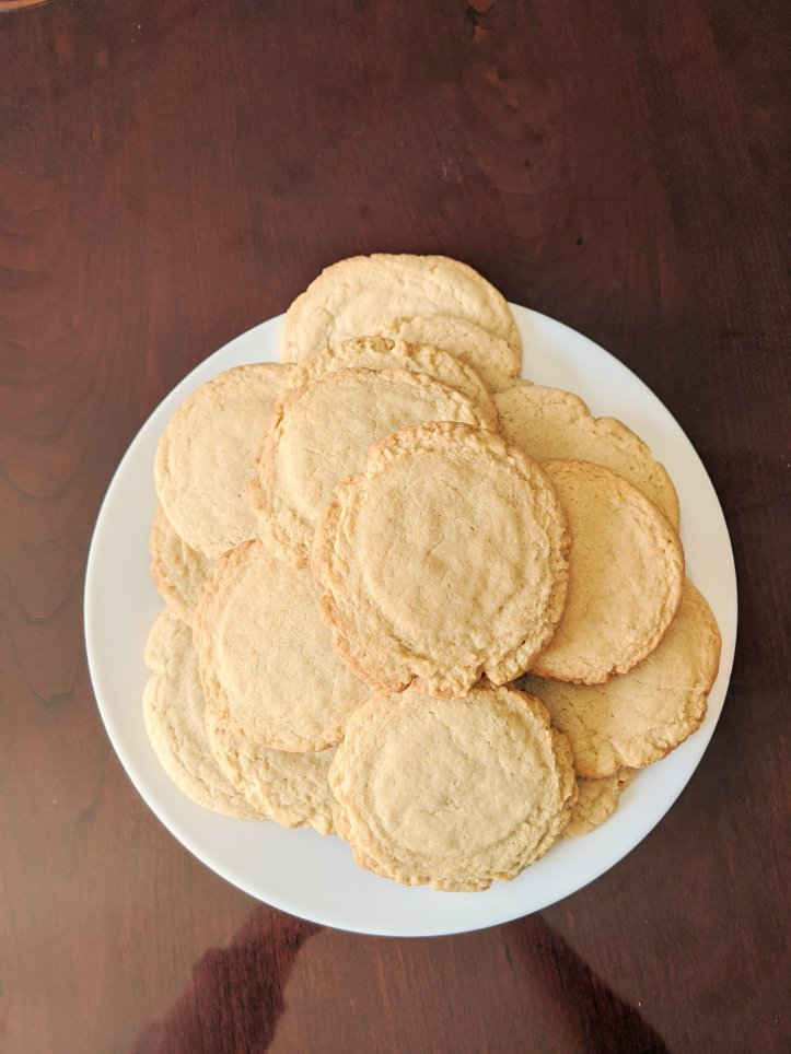 quarantine baking sugar cookies
