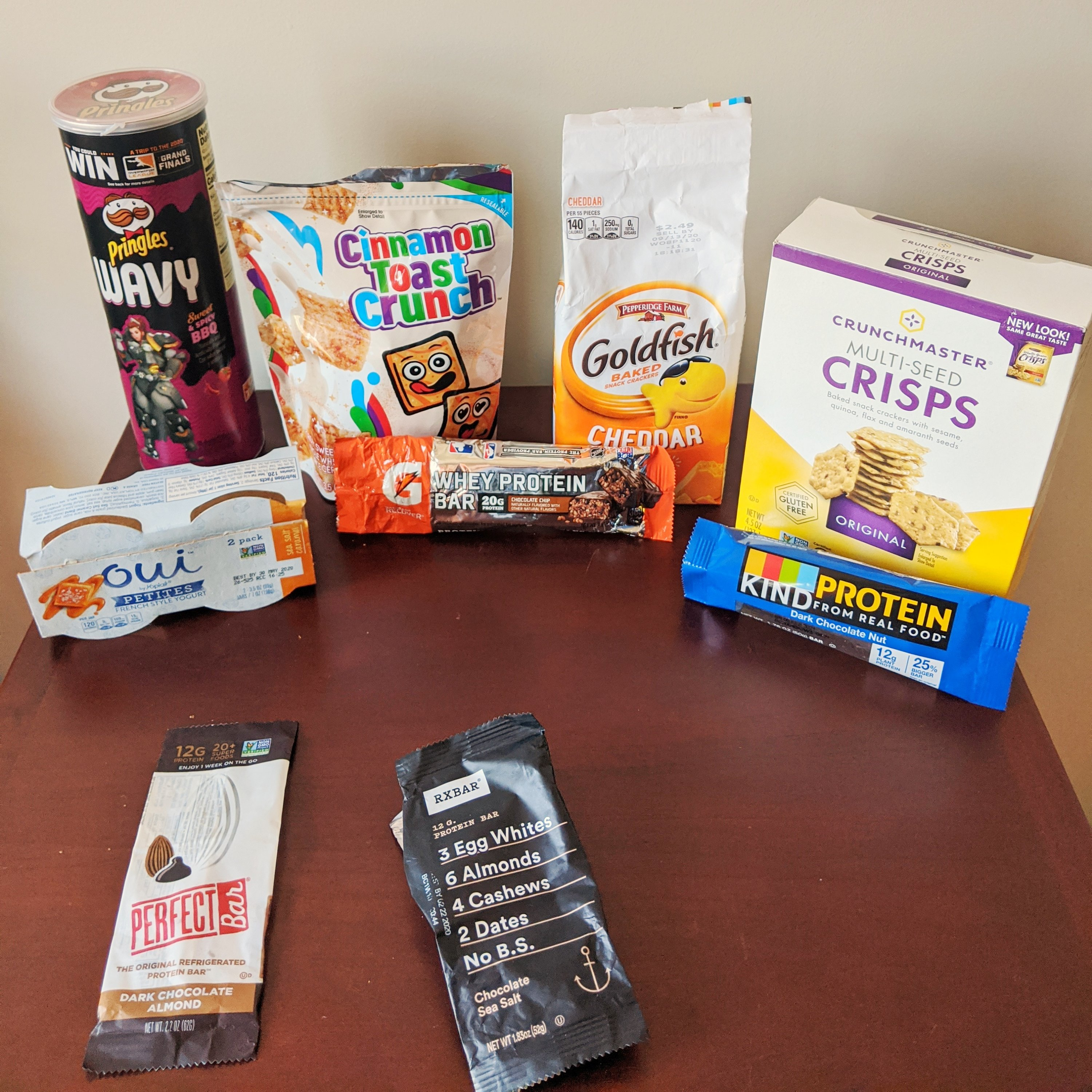 spring 2020 product empties snacks