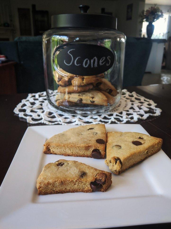 june baking recap almond flour chocolate chip scones