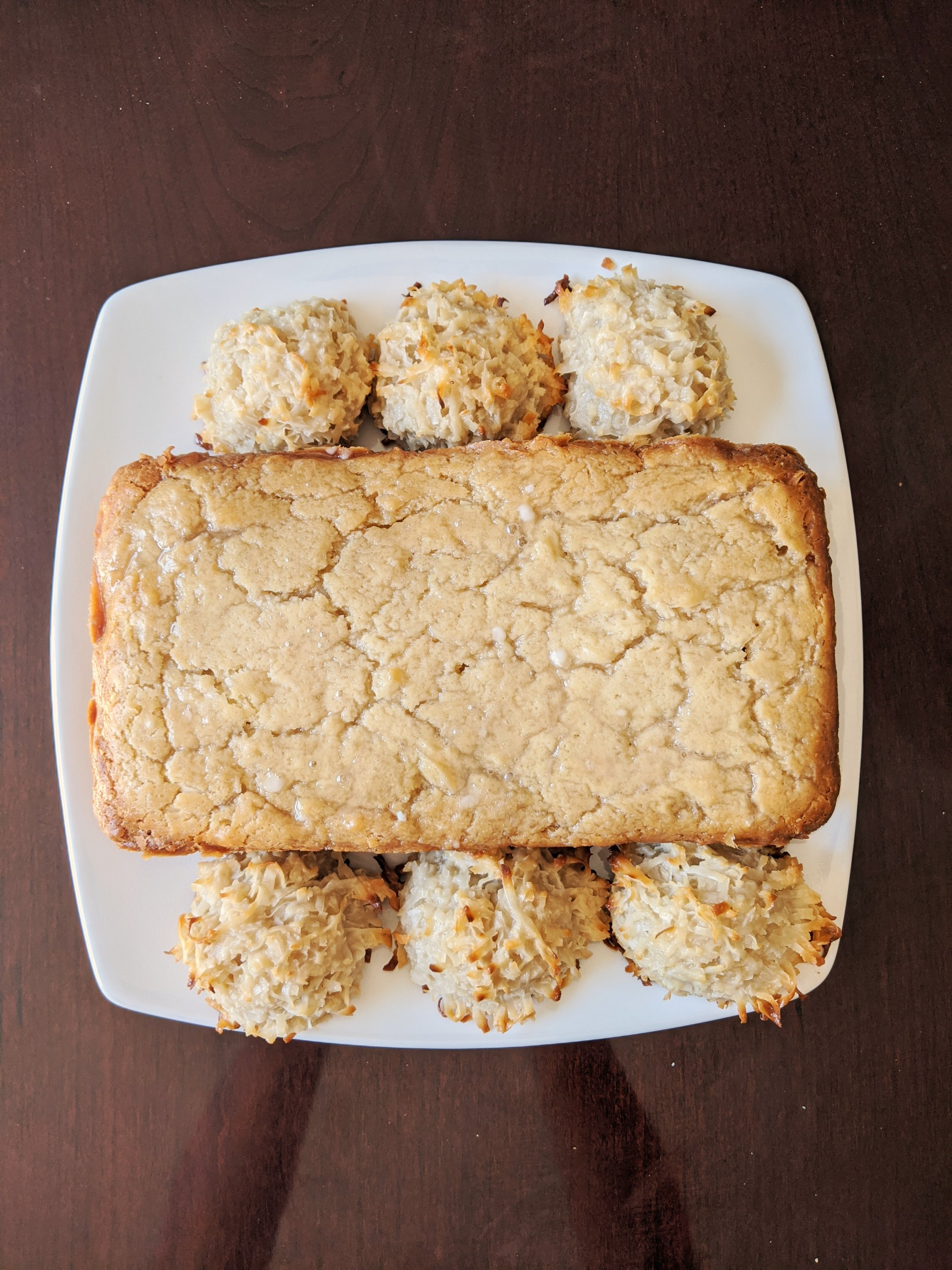july bakes coconut loaf cake and coconut macaroons