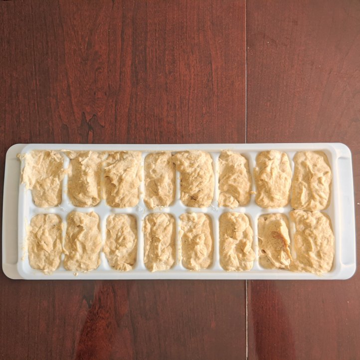 my august bakes peanut butter banana frozen dog treats