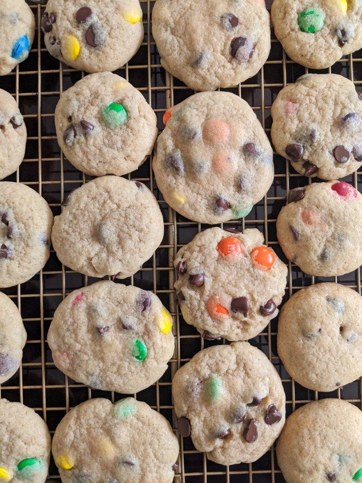my september bakes m&m cookies