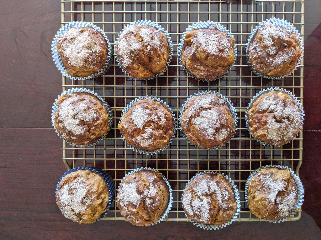 my october bakes pumpkin spice muffins