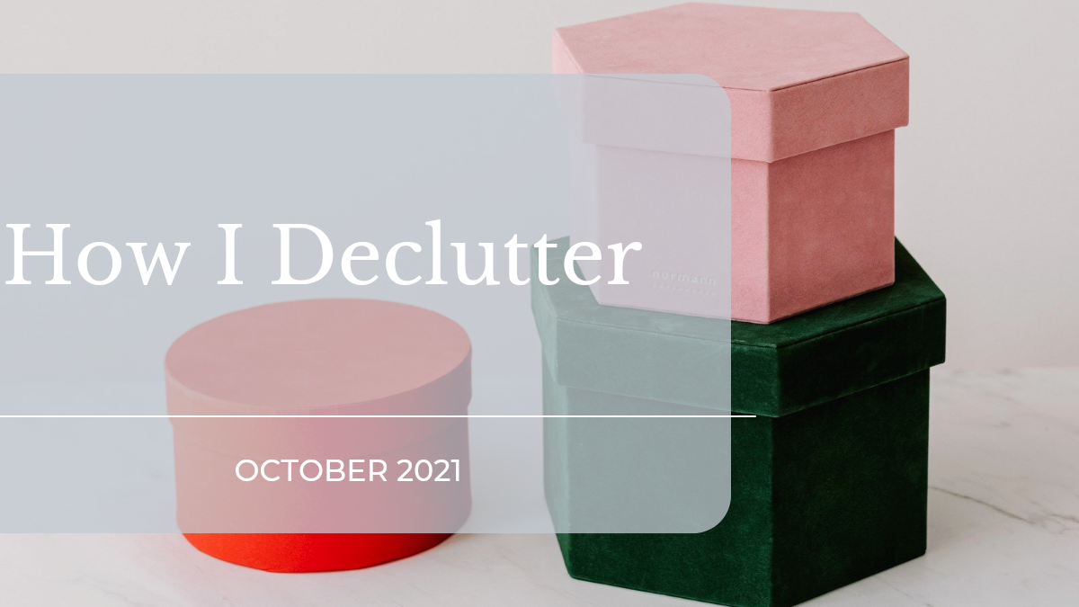 how I declutter featured image